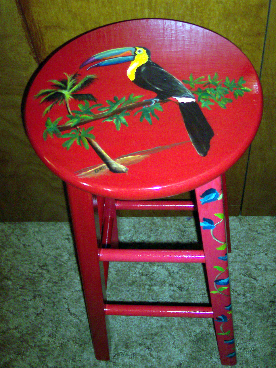 Let S Get Drunk And Paint Parrot Perches Hand Painted